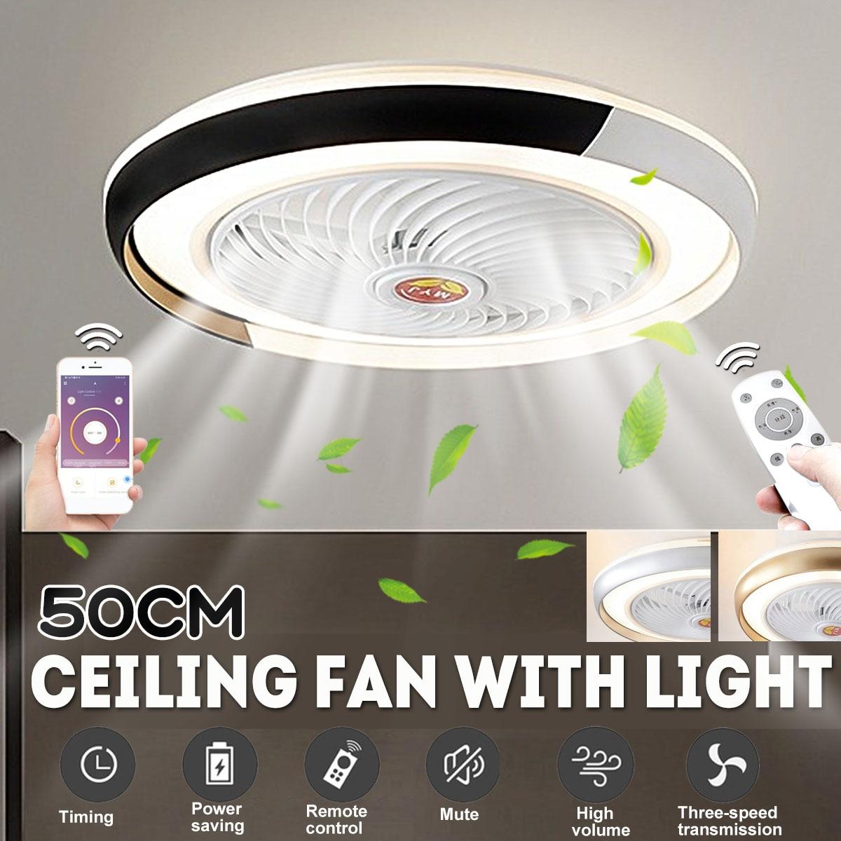 50 سنتيمتر مروحة سقف ذكي مع مصباح مروحة كهربائية غرفة نوم ديكور مصباح التهوية الذكية APP التحكم مع جهاز التحكم عن بعد