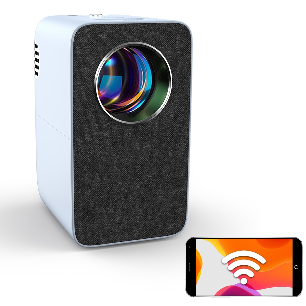 جهاز عرض ضوئي محمول Led للمسرح المنزلي, 4200 لومن ، شحن مجاني ، A7 + واط ، جهاز عرض لاسلكي عالي الدقة 720P