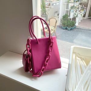 2021 Acrylic Chain Luxury Designer Handbags For Women Crossbody Shoulder Bags Female Day Clutches Messenger Jelly Purse Beach
