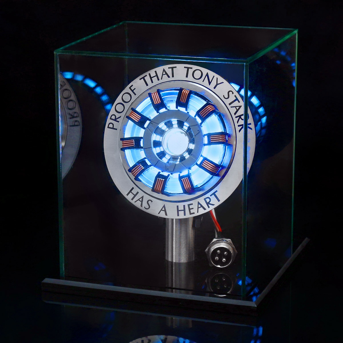 1:1 Arc Reactor Action Figure Remote Light Arc MK2 DIY Parts Model Assembled Toys Chest Lamp Christmas gifts
