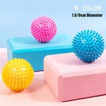 Pelota de masaje de PVC, suela de mano de ejercicios, agarre sensorial erizo, pelota de entrenamiento, pelota de fisioterapia portátil, 9CM, 8 colores