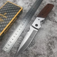 da50 folding knife edc high quality portable 440 blade steel wood handle tactical knife camping survival knife hunting