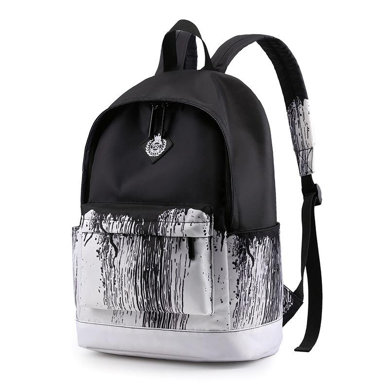 Black White School Satchel Unisex Casual Daypack Lightweight Women Back Bag Designer School Bags For