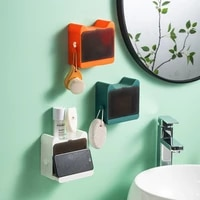 wall mounted soap box with lid drain soap holder box bathroom shower soap holder dish storage plate bathroom supplies