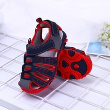2021 Summer Kids Sport Shoes Brand Closed Toe Toddler Boys Sandals Pu Leather Toddler Baby Boys Sand