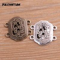 pulchritude 8pcs 2728mm two color zinc alloy hollow box flower pendants connectors linker for diy charm jewelry accessorie