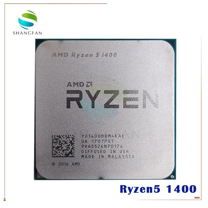 Procesador de CPU AMD Ryzen 5 1400 R5 1400 3,2 GHz Quad-Core YD1400BBM4KAE Socket AM4