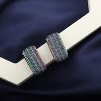 top luxury classic handmade cubic zirconia black earrings mysterious and elegant banquet jewelry beautiful womens earrings