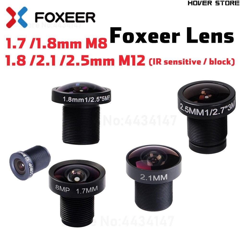 Foxeer original lente de repuesto de cámara 1,7mm M8 lente/5MP 1,8/2,1/2,5mm M12 lente gran angular para Flecha/Predator/cámara Falkor