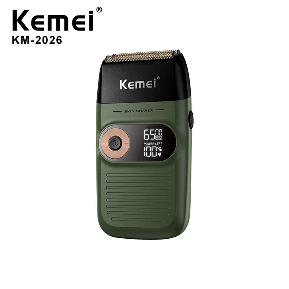 Afeitadora Kemei KM-2026 cuchilla inalámbrica eléctrica, afeitadora de doble hoja, afeitadora reciprocante, Afeitadora eléctrica recargable para hombres