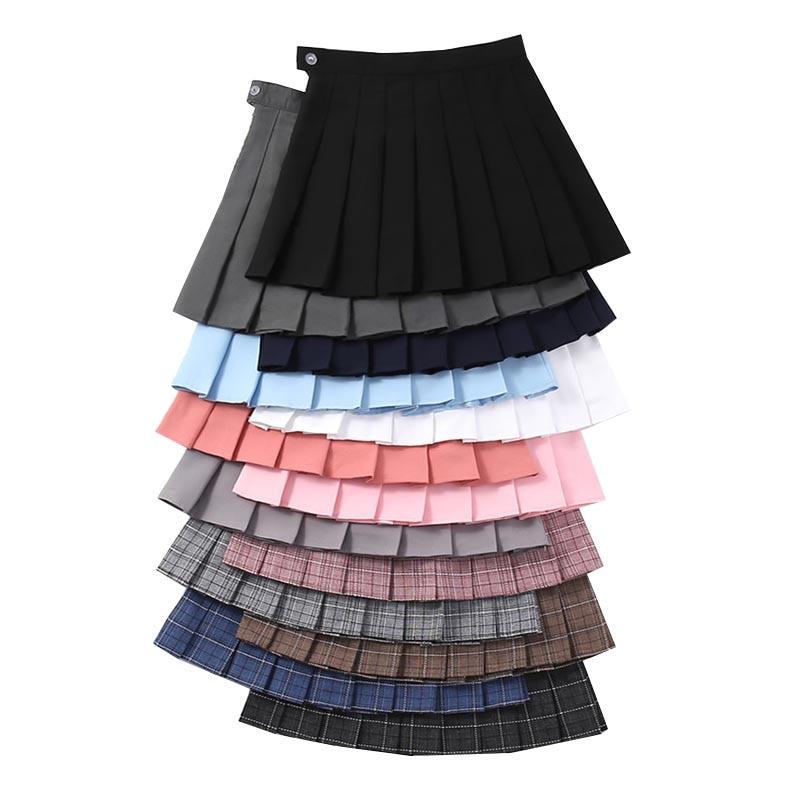 Plaid Summer Women's Skirt High Waist A-Line Ladies Pleated Skirts Cute Sweet Girls Dance Mini Skirt Fashion Female Plaid Skirts