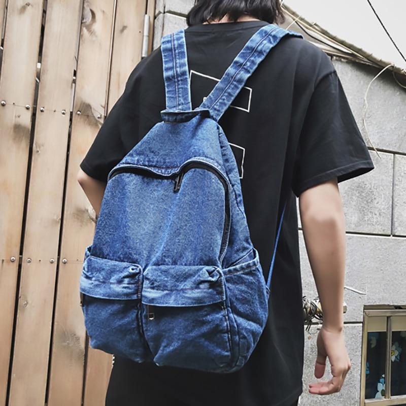 Новый тренд, женский рюкзак, модный джинсовый женский рюкзак, сумки на плечо для студентов, школьный рюкзак для девочек-подростков, Женский ...