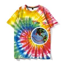 Travis Scott Lollapalooza Astroworld Smiley World T-Shirt Mens and Womens Summer Cotton T-Shirt Harajuku Hip Hop 2019