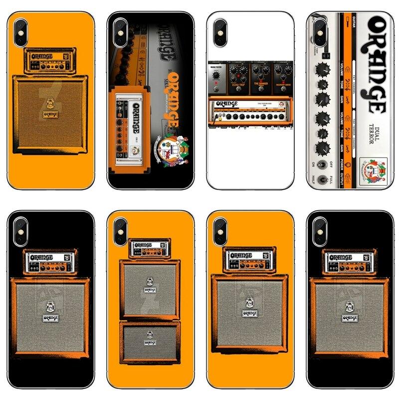 Capa para huawei p30 p20 pro p10 p9 p8 lite y5 y6 y7 y9 prime p inteligente plus 2018 2019 amplificador de guitarra elétrica laranja