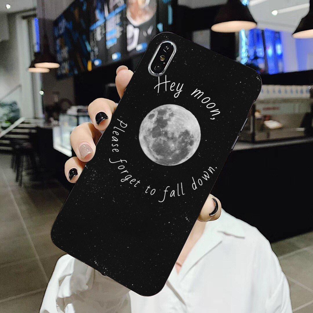 Прозрачный силиконовый чехол для телефона BQ Aquaris C U2 U V X2 X Lite Pro Plus E4.5 M4.5 X5 E5 4G M 2017 Space Love Sun Moon Star