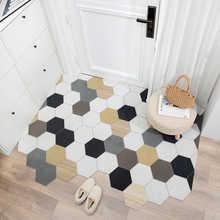 Nordic Doormat Carpet Kitchen Bedroom Bathroom Living Room Hallway Corridor Entrance Doormat Non-Slip Can Be Cut DIY Mats Carpet