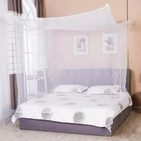 1pcs moustiquaire canopy white four corner post student canopy bed mosquito net netting single bed size