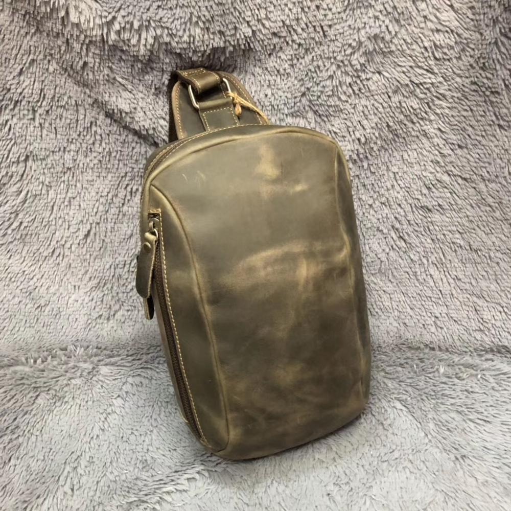 YITIANMEI الرجال الصدر حزمة متعددة الوظائف المائل حقيبة الترفيه حقيبة كتف جلد الصبي الصدر حقائب السفر حقيبة رافعة حقيبة اليد