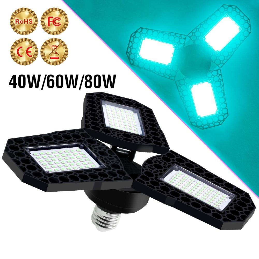 Led UV luz esterilizadora E27 bombilla 40W 60W 80W Led UV C...