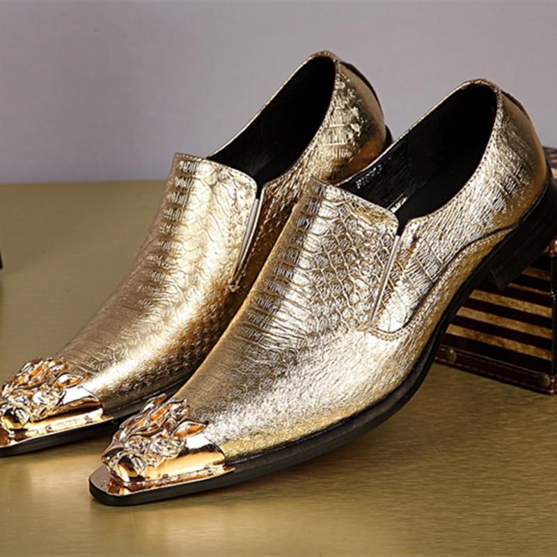 أحذية موكاسين جلدية كلاسيكية للرجال ، أحذية رسمية ، بدون أربطة ، للحفلات والنوادي الليلية