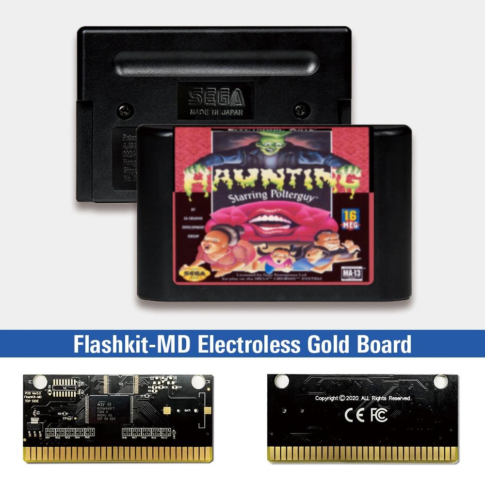 Persiguiendo protagonizada por Polterguy-EE. UU. Etiqueta Flashkit MD químico oro de tarjeta...