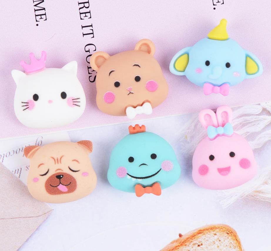 Flat Back Resin Kawaii DIY Cat/dog/bear Cartoon Resin Craft Decoration For Hair Bow Hair Clip Center diy scrapbook accessorie