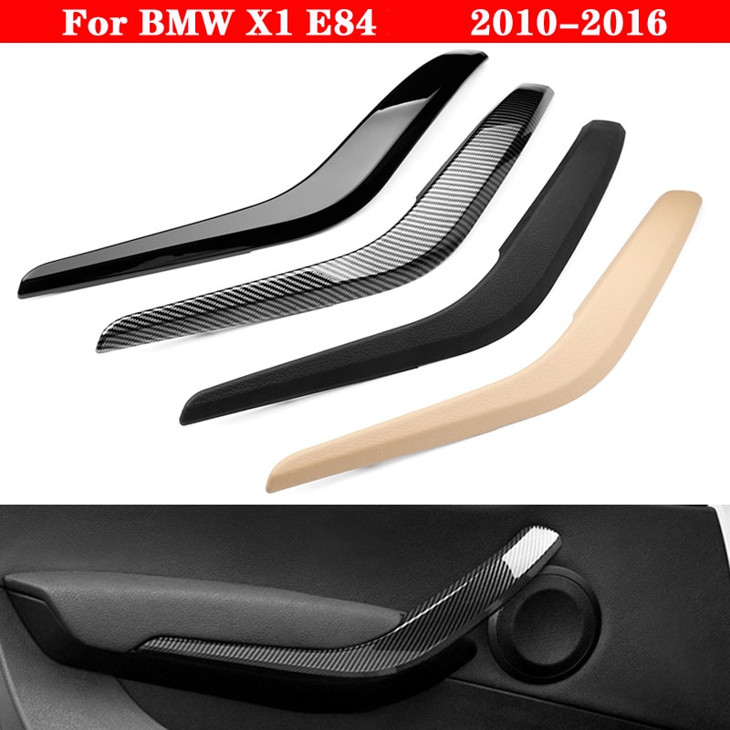 Car Inner door Panel handle Cover For BMW X1 E84 2010-2016 Auto Left Right Interior Door Armrest Pull Trim Beige Black