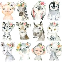 chenistory painting by numbers zebra piggy diy oil coloring by numbers flowers animal canvas paint art pictures home decor