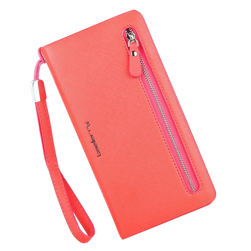 Vintage 2019 Wallet Women's Double Zippers Purse Female Clutch Wallets Card Bits Iphone Handy Bags P