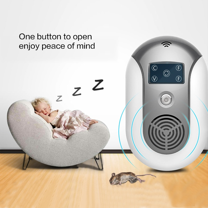 Dispositivo ahuyentador de cucarachas y ratones con ultrasonido, insectos, ratas, arañas, matamosquitos, Control de plagas para el hogar, ahuyentador de plagas