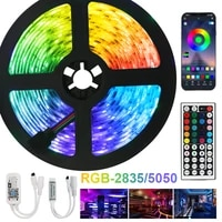 led strips lights bluetooth iuces dc12v 5m 10m 15m 20m color rgb 5050 smd 2835 waterproof wifi flexible lamp tape ribbon diode