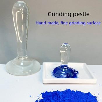 New Arrival Handmade Grinding Pestle DIY Pigment Powder Muller High Borosilicate Glass Pestle tempra chinese painting,Thang-ga