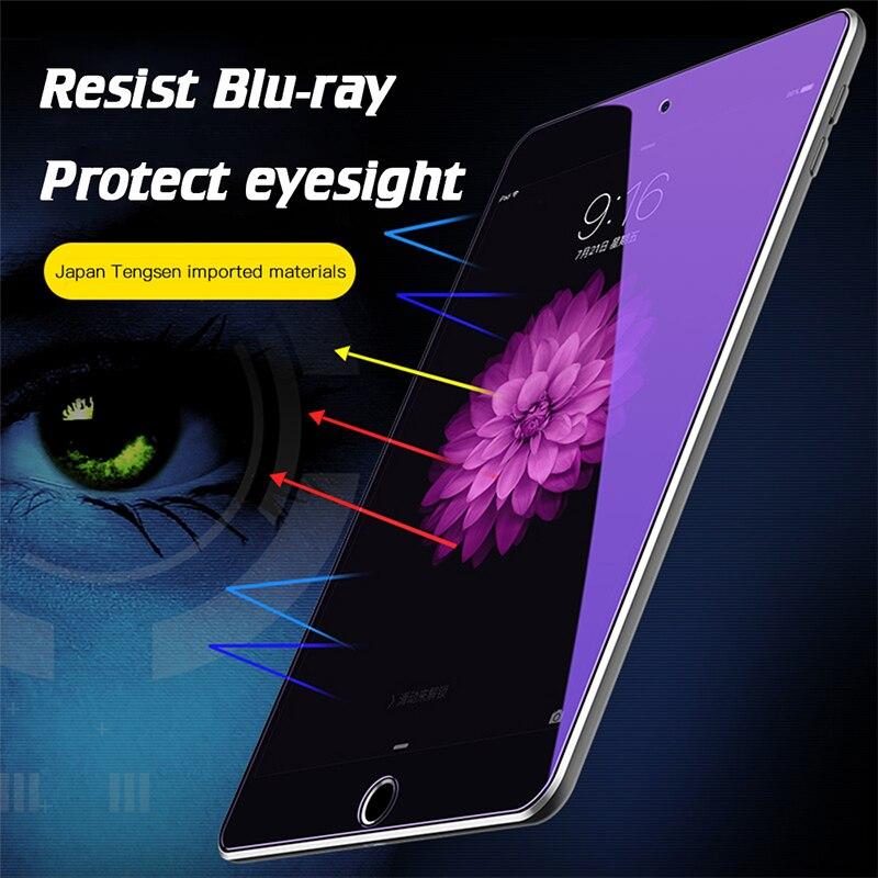Funda completa para ipad 11 Pro 9,7 10,2 12,9, cristal templado con luz azul para iPad 2018 5 6 Air 1 2 3, Protector de pantalla de tableta