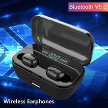 G65 Bluetooth 5,0 auriculares inalámbricos mini auriculares caja de carga de teléfono auriculares para Iphone xiaomi samsung Huawei oppo