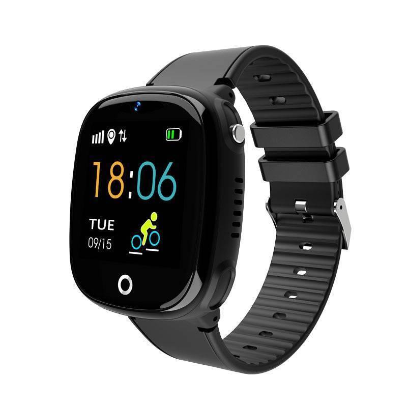 Kids Anti-Lost Gps Tracker Smart Watch Sos Call Safe Wristwatch Waterproof Hw11 Black