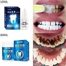80ml coquilles de noix de coco charbon actif blanchiment des dents organique naturel charbon dentifrice poudre laver vos dents blanc