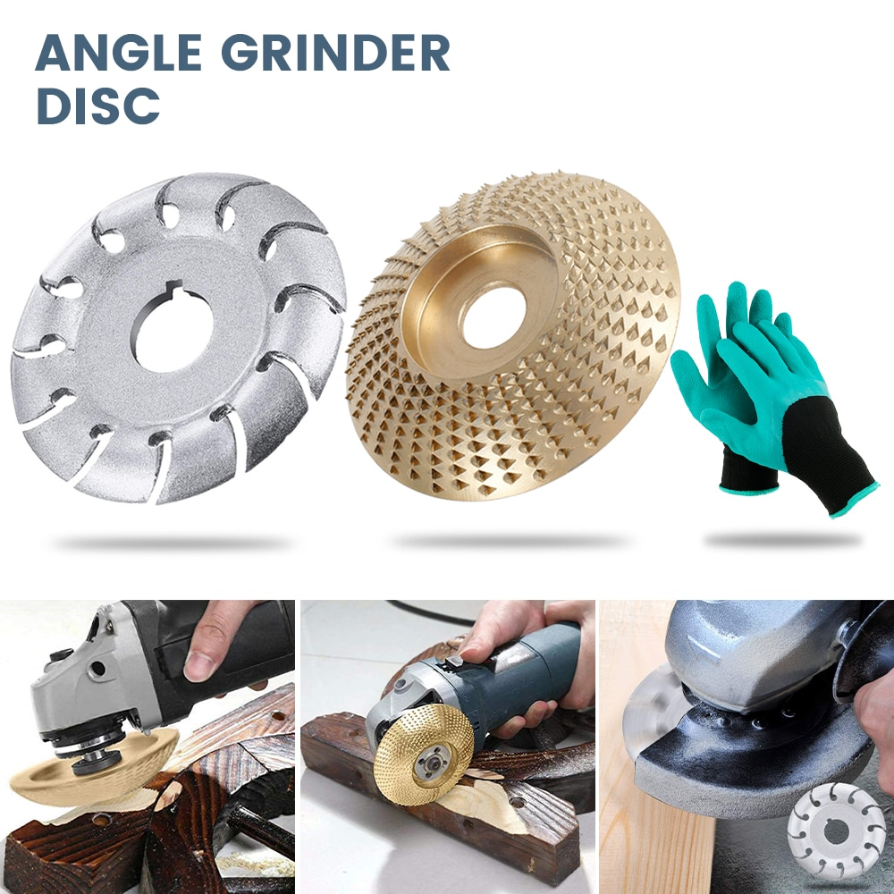 High Quanlity Angle Grinder Wood Sanding Carving Shaping Disc 12 Tooth Woodcarving Disc Woodworking Power Tools Accessories