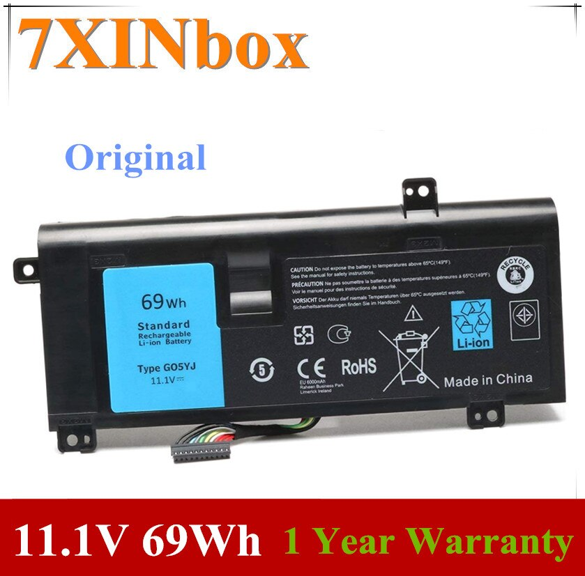 7XINbox 11.1V 69Wh G05YJ 0G05YJ بطارية كمبيوتر محمول لديل من Alienware 14 A14 M14X R3 R4 ALW14D Y3PN0 8X70T