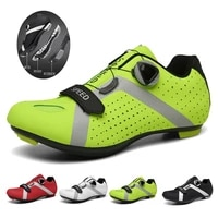 breathable mtb outdoor cycling shoes lightweight reflective self locking cleat shoes athletic bicycle sneakers men sports shoes