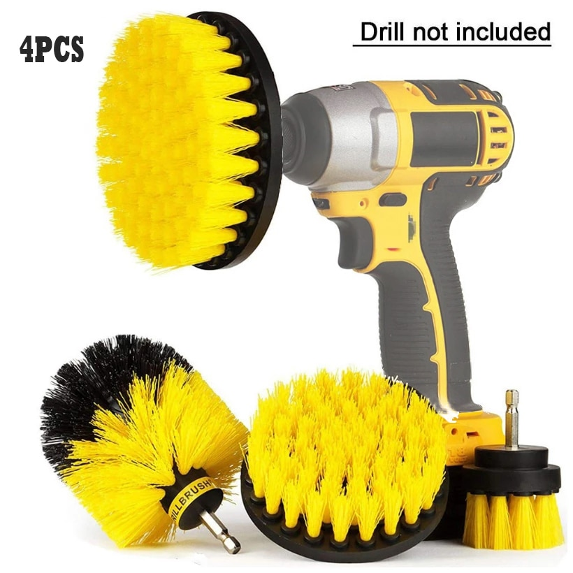 3/4/6 Pcs Drill Brush Cleaner Kit Power Scrubber for Cleaning Bathroom Bathtub Cleaning Brushes Scrub Drill Car Cleaning Tools недорого