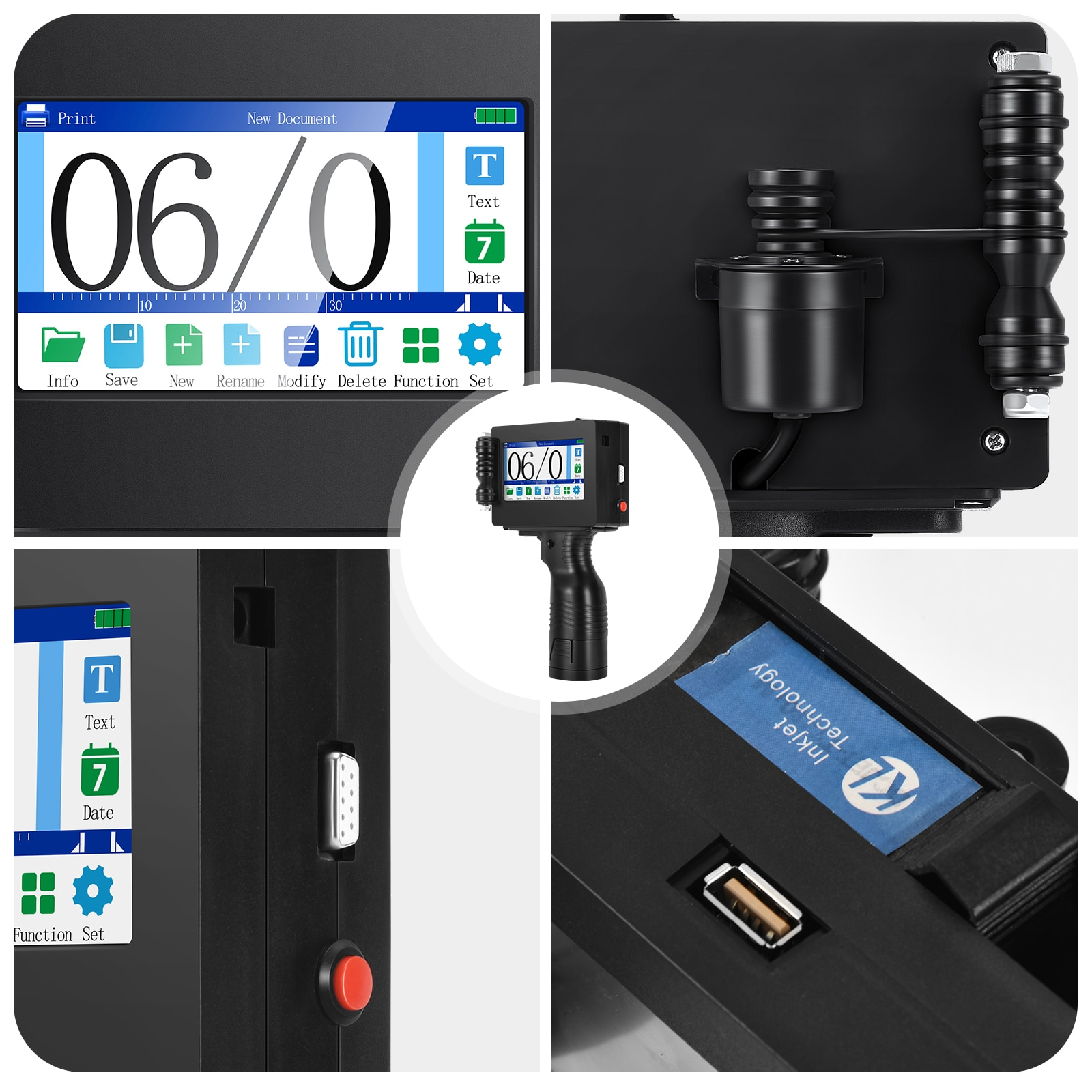 """Quick-drying Handheld Inkjet Printer 4.3"""" Touch Screen 20 Languages Portable High Definition Label Printing Tool for Logo Print enlarge"""