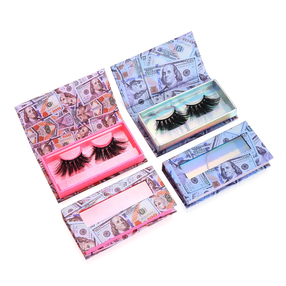 1PC Empty Eyelash Packaging Box Wholesale Lashes Boxes Lashes Package Case 8-25mm Lashes Rectangle Box with Transparent Tray
