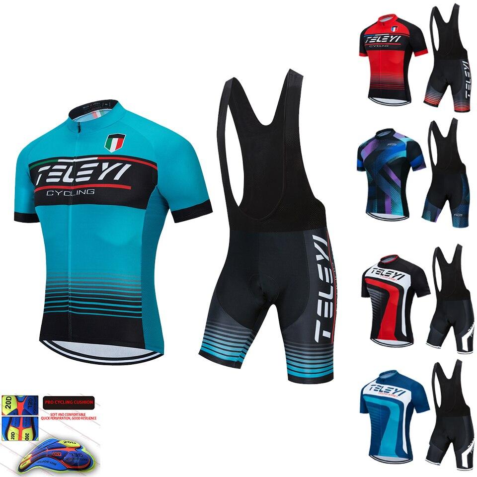TELEYI-Ropa de Ciclismo, Conjunto de Jersey de bicicleta de montaña, Maillot, Ropa...