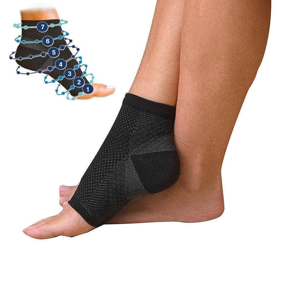 Foot angel anti fatigue compression foot sleeve Ankle Support Running Cycle Basketball Sports Socks