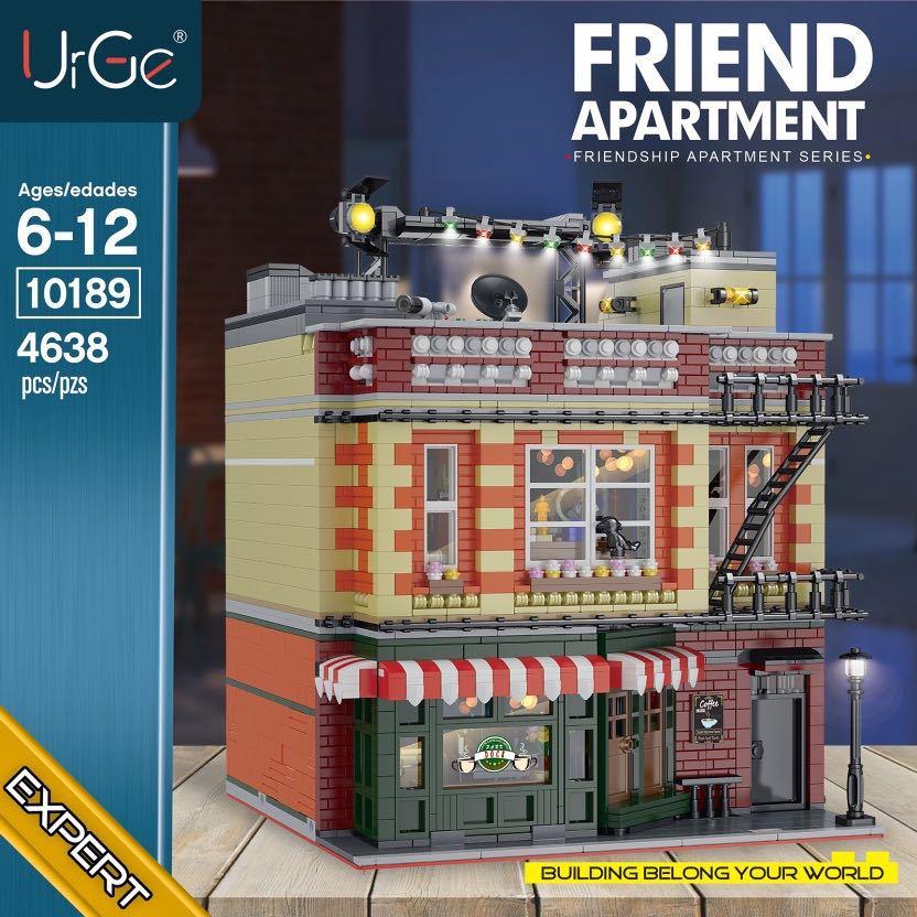 Construcción del Central Perk Cafe para niños, 4638 Uds., serie de Tv clásica americana Friends, Central Perk Cafe, Big Bang Theory, 21319, amigos, bloques de construcción en miniatura