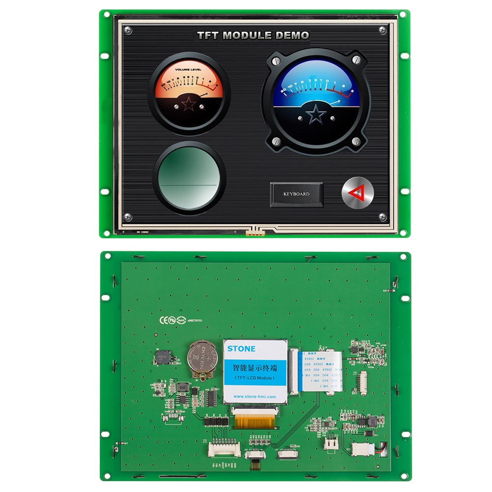 Piedra HMI pantalla TFT LCD módulo con RS232/RS485/TTL para casa inteligente