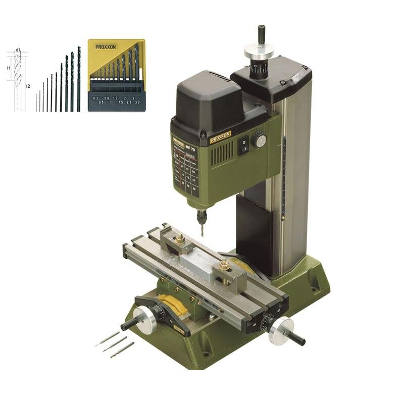Mini fresadora PROXXON 220V 100W MF70 máquina de perforación de banco, taladro...