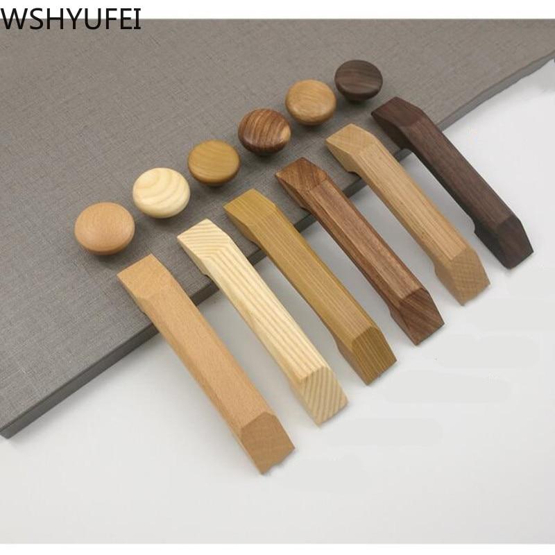 Manija para armarios y muebles de cocina WSHYUFEI 1 Uds., armario de madera maciza natural, tiradores para puertas y cajones