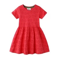 2 6 years toddler girls cotton dress printed strawberry short sleeves girl baby kids summer outfit summer jersey clothes