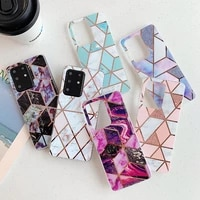 signalshin rhombus marble phone case for samsung galaxy s20 ultra note s10 plus s10e a70 a50 a50s a40 a51 a71 rectangle cover